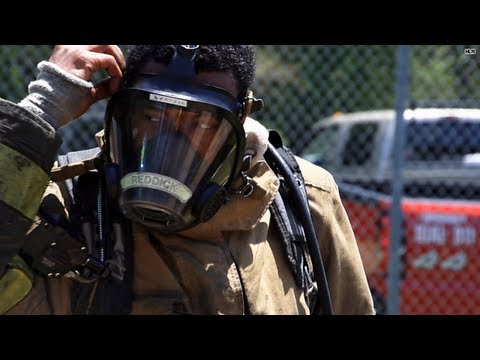 Firefighter recruits feel the heat of 'burn week'