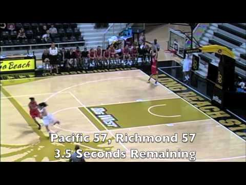 Pacific Women's Basketball - Last Second Comeback vs Richmond