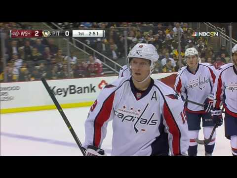Video: Backstrom scores after Ovechkin takes out two Penguins