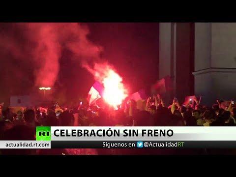 Disturbios en París por la celebración de la victoria de Francia ante Bélgica