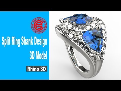Split Ring Shank Design Modeling in Rhino 3D (2018): Jewelry CAD Design Tutorial #42