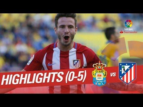 Resumen de UD Las Palmas vs Atlético de Madrid (0-5)