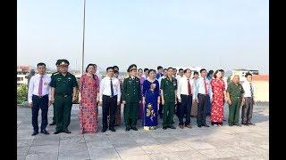 Đoàn đại biểu Đại hội MTTQ TP viếng anh hùng liệt sỹ và Dâng hương tại Đài tưởng niệm Bác Hồ