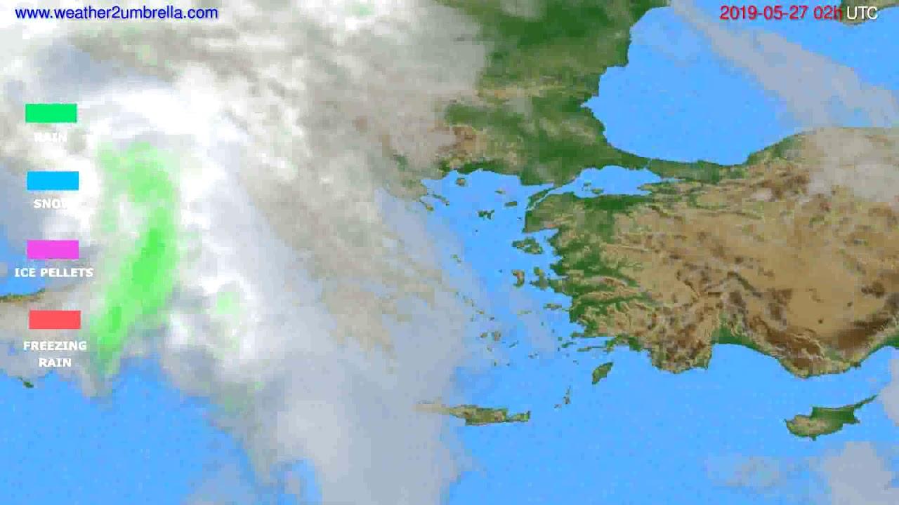 Precipitation forecast Greece // modelrun: 00h UTC 2019-05-24