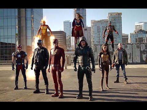 DC Comics TV Crossover Final Fight. Flash, Supergirl, Arrow, Firestorm, Atom against the Dominators