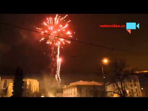 Vitání nového roku 2014 na Mendláku v Brně