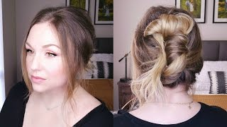 Make sure to give this video a Like or Comment!  And please Subscribe!!!This messy banana bun/ messy chignon/ low messy bun is the perfect go to hairstyle! Inspired by French girls hairstyles, this hairstyle is all over pinterest right now! It takes minutes and looks effortlessly chic!  You can have dirty hair, clean hair, straight hair, curly hair, wavy hair......it doesn't matter because it looks great on everyone!Living Proof Dry Volume  http://www.ulta.com/full-dry-volume-blast?productId=xlsImpprod14731019Please Subscribe and check out my website and social media as well!  Thanks so much! xoxohttp://reneesway.comhttps://www.facebook.com/reneeswaybeauty/https://www.instagram.com/reneesway82/https://www.pinterest.com/reneesway82/