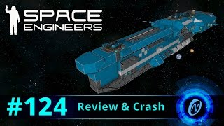 Hiigaran Destroyer Review and Crash! Space Engineers Part 124