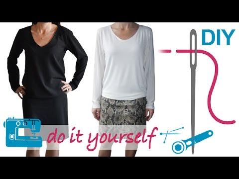 """DIY Kleid nähen für Anfänger – Damenkleid, Jerseykleid – Zierstoff Schnittmuster """"Tabea"""""""