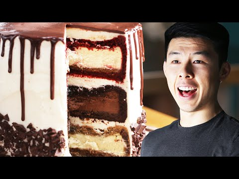 The Ultimate Triple-Decker Cheesecake Tower: Behind Tasty