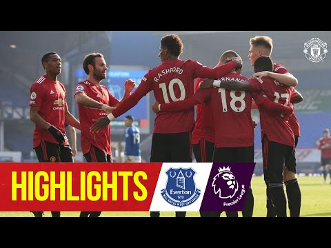 Fernandes and Cavani seal Goodison win   Everton 1-3 Manchester United   Highlights   Premier League