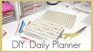 DIY: How I Made My Daily Planner | erisaxo - YouTube