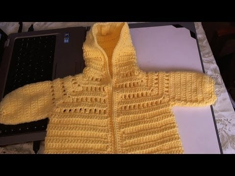 Easy to Crochet Baby Hoodie Sweater -  Video 1