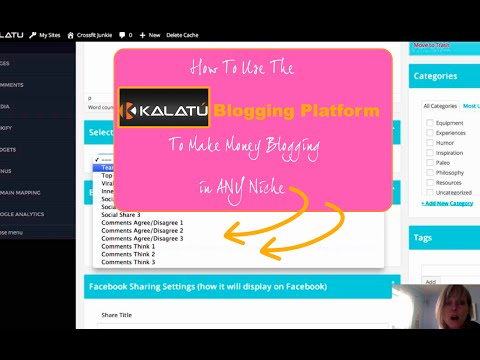 How To Use The Kalatu Blogging Platform To Make Money Blogging in ANY Niche