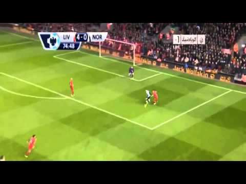 Liverpool Vs Norwich City 5-1 Suarez Super Hatrick