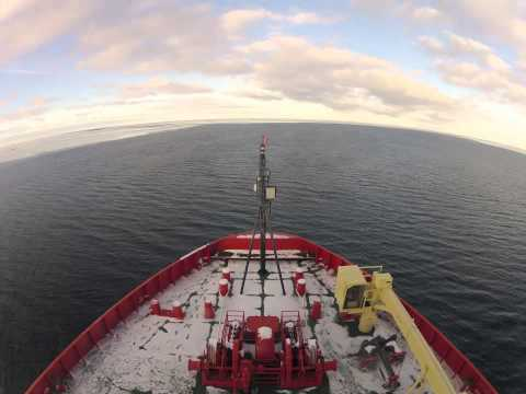 ice - Time-lapse of our icebreaker, the Nathaniel B. Palmer, traveling through the Ross Sea, Antarctica. Two months of sequences, condensed into less than five min...