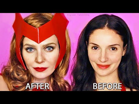 WANDAVISION (Scarlet Witch) Makeup Transformation - Cosplay Tutorial