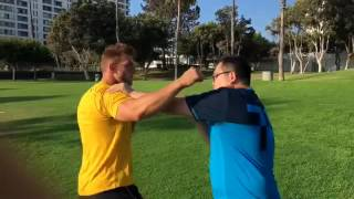 Training outdoor in Santa Monica, California with Sifu Peter Nguyen from Legacy Jeet Kune Do learning the pure basics of Jeet Kune Do, focusing on form and balance until we master them before adding speed and power.We will be posting more tutorial videos soon with step by step description so you guys can try this amazing system derived from Kung Fu founded by Master Bruce Lee in 1967.FOLLOW:DIEGO SECHI: https://www.facebook.com/diegosechifitnessLEGACY JEET KUNE DO: https://www.facebook.com/LegacyJeetKuneDo/