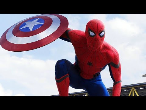 "Spider-man ""hey Everyone"" - Airport Argument Scene - Captain America: Civil War - Movie Clip Hd"