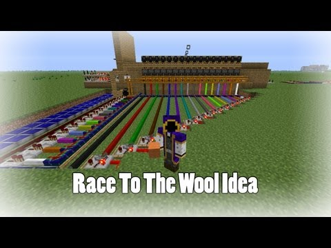 Minecraft Race To The Wool Map Idea