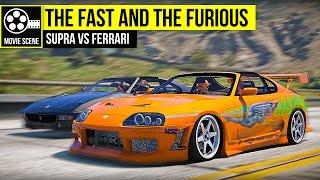 Nonton Grand Theft Auto 5 - The Fast and the Furious - Supra VS Ferrari Film Subtitle Indonesia Streaming Movie Download