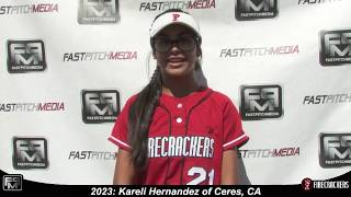 2023 Kareli Hernandez Outfield and Catcher Softball Skills Video - Firecrackers
