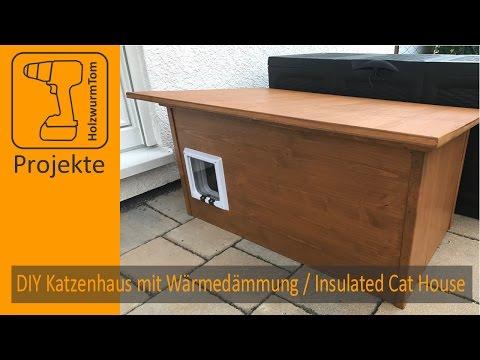 DIY Winter Katzenhaus mit Wärmedämmung / Insulated Winter Cat House (with english subtitle)