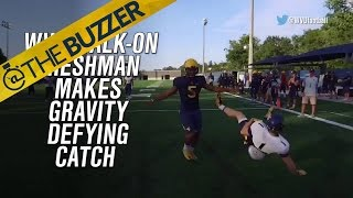 West Virginia walk-on makes gravity-defying, one-handed TD grab by @The Buzzer