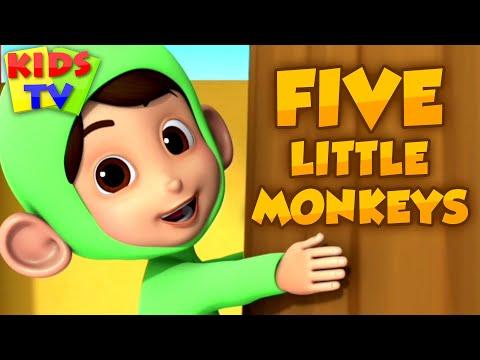 Five Little Monkeys & More Kids Nursery Rhymes   Songs for Children   kids tv nursery rhymes