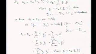 Mod-01 Lec-09 Random Sampling From Multivariate Normal Distribution And Wishart Distribution - II