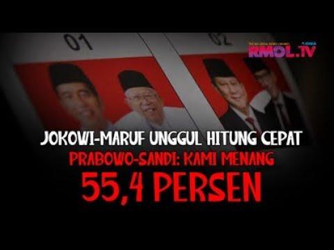 Jokowi-Maruf Unggul Hitung Cepat, Prabowo-Sandi: Kami Menang 55,4 Persen