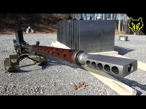 20mm Anti Tank Lahti vs 16 Steel Plates! slow motion Richard Ryan