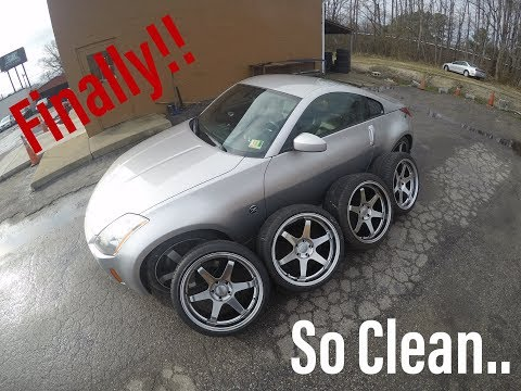 THE 350Z GETS NEW WHEELS!!!