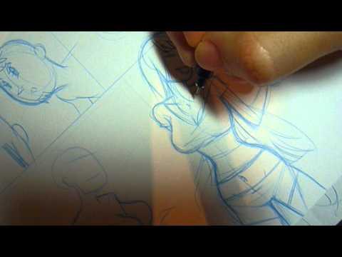 COMIC zeichnen – Entstehung eines Comics – Comiczeichner