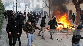 Corsica: arabs riot, shoot Whites with harpoons, machetes and burn cars after tourist takes a picture. Corsican citizens fight back.