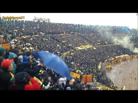 Hinchada de Peñarol vs Nacional - Clausura 2016 - Barra Amsterdam - Peñarol