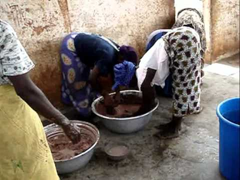 Fabrication du beurre de Karité