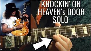 Knockin' On Heaven's Door Solo by GUNS N' ROSES - Guitar Lesson - Slash