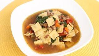Mini Ravioli Soup Recipe - Laura Vitale - Laura in the Kitchen Episode 641