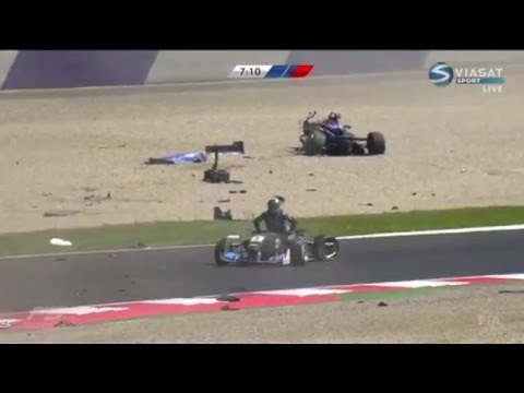 Peter Li Zhi Cong Huge Crash 2016 FIA Formula 3 At Spielberg