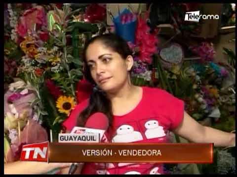 Decenas de ciudadanos compran flores por San Valentín