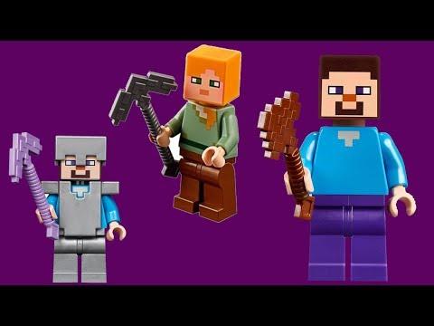 minecraft house building challenge with LEGO   lego minecraft world moc (видео)