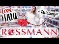 ROSSMANN live Haul + VERLOSUNG 🛍