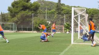 Watch great training ground goals by the Premier League 2 champions from their pre-season camp at La Manga Club in Spain.