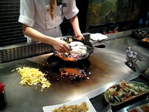 Authentic Chinese Style Vegetarian Fried Rice Cooked By A Restaurant Chef