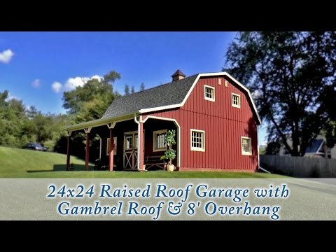 24x24 Customized Raised Roof Garage