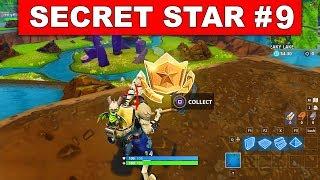 SECRET BATTLE STAR WEEK 9 SEASON 6 LOCATION! - Fortnite Battle Royale (Hunting Party Challenges)