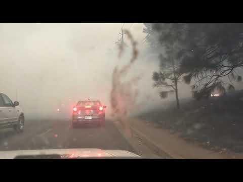 Evacuating Camp fire Paradise, CA Nov 8 2018