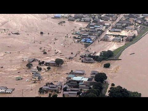 Κατακλυσμιαίες βροχές και πλημμύρες πλήττουν την ανατολική Ιαπωνία