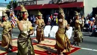 Khmer Culture - Cambodian New Year Parade In Cambodian Town, Long Beach California USA